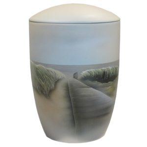 handbemalte Keramikurne
